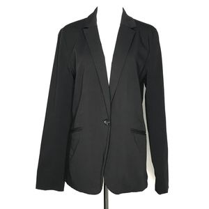 Mossimo Black Single Button Blazer Jacket A170807